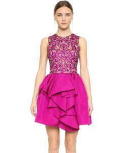 Marchesa | Коктейльное Платье С Цветочной Вышивкой