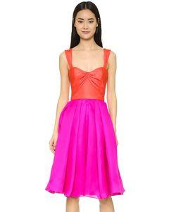 Reem Acra | Платье С Широкой Юбкой Из Шелкового Газара