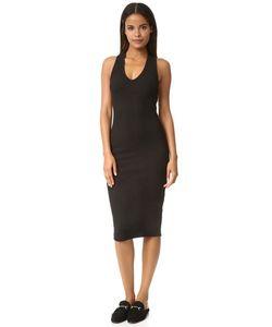 James Perse | Платье С V-Образным Вырезом Из Тяжелого Рубчатого Трикотажа