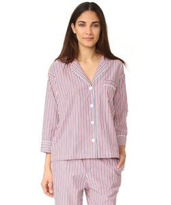Sleepy Jones | Пижамная Рубашка Marina С Тонкими Разноцветными Полосками
