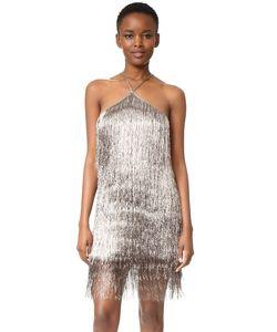 Rachel Zoe | Металлизированное Платье С Бахромой