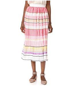 Monique Lhuillier | Stripe Midi Skirt
