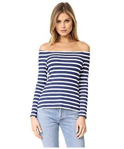 L'Agence | Cynthia Long Sleeve Off Shoulder Top