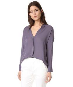 Vince | Шелковая Блуза С Двойным Передом