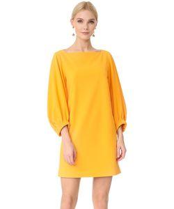 Tibi | Платье Из Крепа С Вырезом Лодочкой