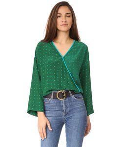 Diane Von Furstenberg | Блуза С Широкими Рукавами И Перекрещенной Отделкой