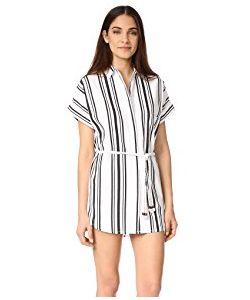 Soleil | Striped Linen Beach Dress