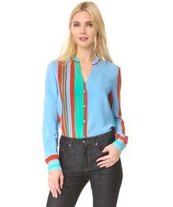 Diane Von Furstenberg | Рубашка С V-Образным Вырезом И Длинными Рукавами