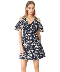 J.O.A. | Платье С Цветочным Принтом И Открытыми Плечами