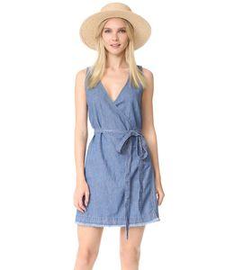 Madewell | Платье-Халат Из Денима С Необработанным Краем