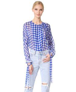 Diane Von Furstenberg | Блуза С Длинными Рукавами И Вырезом На Завязке