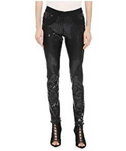 Vera Wang Collection | Sequined Skinny Pants