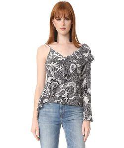Diane Von Furstenberg | Асимметричная Блуза С Оборкой Спереди