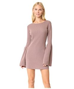 THE PERFEXT | Bell Sleeve Cashmere Dress