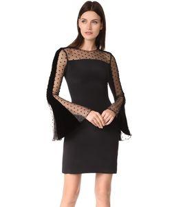 Monique Lhuillier | Платье С Расклешенными Рукавами