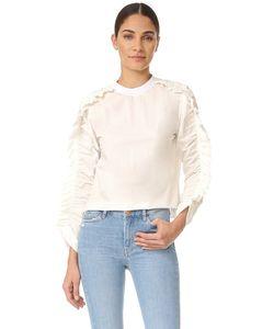MSGM | Блуза С Оборками И Длинными Рукавами