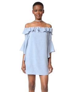 WAYF | Платье Kiera С Открытыми Плечами И Оборками