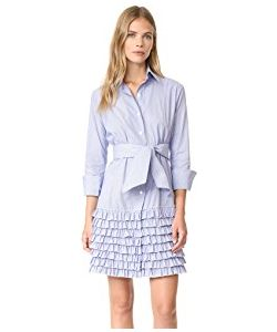 Bell | Ruffle Shirtdress