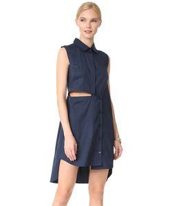Milly | Платье-Рубашка Из Хлопковой Ткани В Рубчик С Вырезами