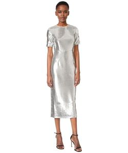 Diane Von Furstenberg | Идеально Скроенное Платье С Блестками И Короткими Рукавами
