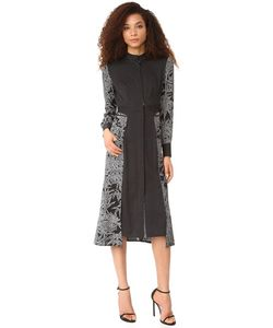 Diane Von Furstenberg   Платье-Рубашка С Завязками На Талии И Длинными Рукавами