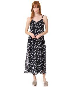 Vince | Платье Calico С Цветочным Принтом И Мелкими Сборками На Талии