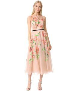 Lela Rose | Платье С Вышитыми Цветами