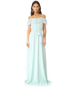 Joanna August | Вечернее Платье Nikki С Оборками И Открытыми Плечами