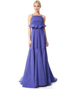 Lela Rose | Вечернее Платье С Оборкой Сзади