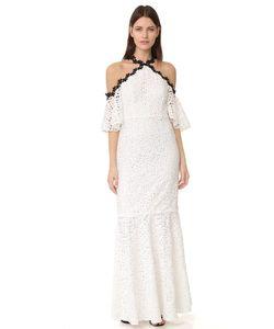 JILL JILL STUART | Кружевное Вечернее Платье С Открытыми Плечами И Подолом Русалка