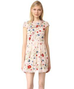Alice + Olivia | Платье Ariel С Короткими Рукавами И Вышивкой