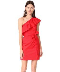 Milly | Платье С Открытым Плечом Tara Из Хлопковой Ткани В Рубчик