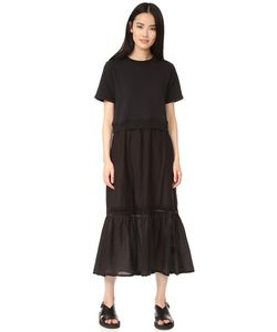 Clu | Платье-Толстовка Из Комбинированных Материалов