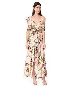 Nicholas   Evie Wrap Flounce Maxi Dress