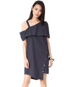 Clu | Асимметричное Платье С Открытыми Плечами