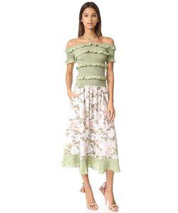 Rebecca Taylor | Платье С Открытыми Плечами С Комбинированными Принтами