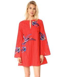 TANYA TAYLOR | Платье Jackie С Вышитыми Птицами