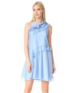 Carven | Плиссированное Платье С Оборками