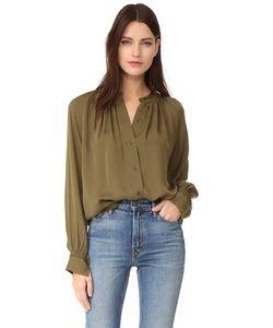 Vince | Блуза Со Складками И Выполненными Вручную Стежками