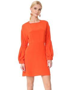 Tibi | Короткое Платье С Объемными Рукавами