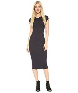 Enza Costa | Ribbed Cap Sleeve Dress