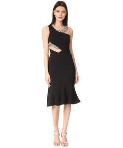Marchesa Notte | Коктейльное Платье С Вырезом И Отделкой Бусинами