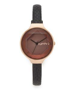 RumbaTime | Часы Orchard Gem Exotic С Черным Кожаным Ремешком