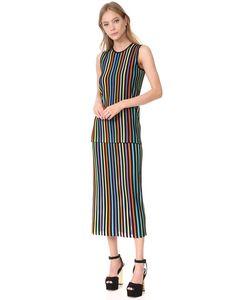 Diane Von Furstenberg | Двухъярусное Трикотажное Платье Без Рукавов