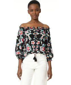 TANYA TAYLOR   Блуза С Мозаичным Цветочным Рисунком
