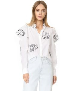 Kenzo | Блуза Из Ткани В Рубчик