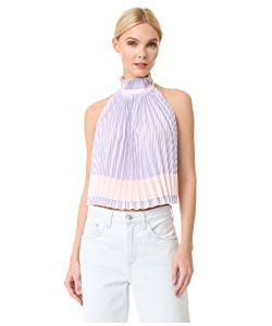 ADAM SELMAN | Backless Pleated Trapeze Top