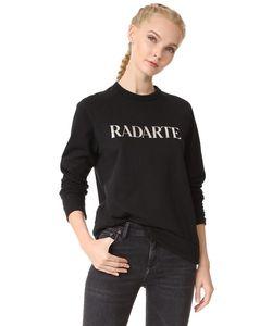 Rodarte | Толстовка Radarte С Блестящим Серебристым Логотипом
