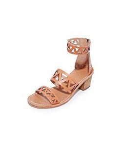 Soludos | Geo Laser Cut Mid Heel Sandals