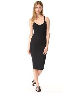ATM Anthony Thomas Melillo | Платье С Овальным И V-Образным Вырезом Из Модала В Рубчик